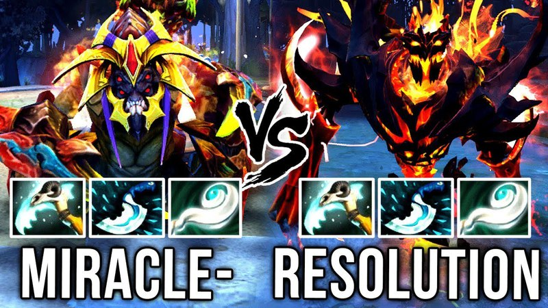 Different Heroes with Same Build?! Miracle Sand King vs Resolution Shadow Fiend - Dota 2