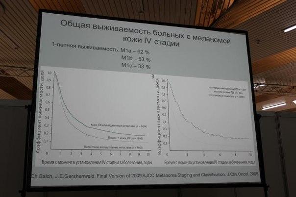 Слайд: Общая выживаемость больных с меланомой кожи 4 стадии - Кукушкина Мария Николаевна  Доклад на тему : «Подходы к лечению генерализованной меланомы»