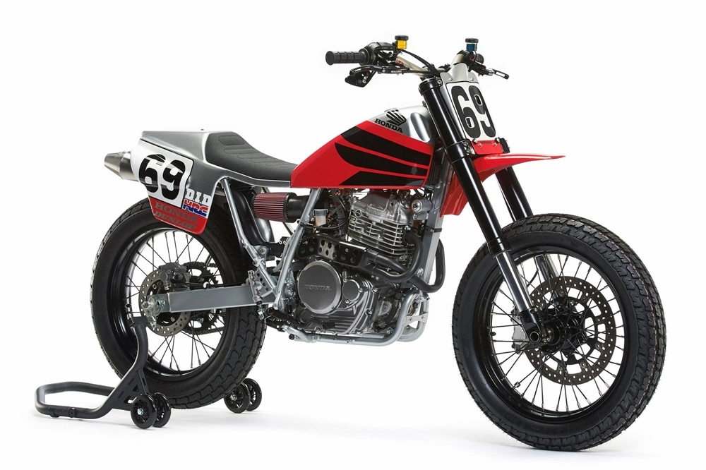 Analog Motorcycles: флэт-трекер Honda XR650L Nicky Hayden Tribute