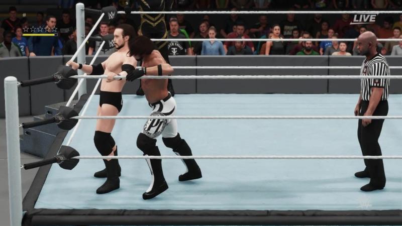 WW AJ Styles Goldust vs Adam Cole Seth Killick