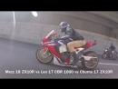 Kawasaki H2 vs Honda CBR1000RR vs Kawasaki ZX10 vs BMW S1000RR vs Yamaha R1M - Street Race