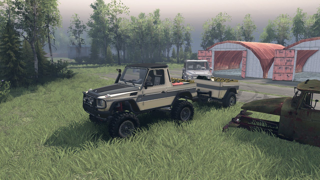 Mercedes G320 CDI Standard & Pickup Version 1.0 для Spintires - Скриншот 3