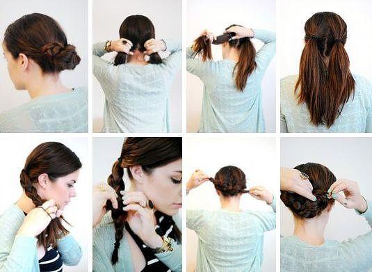 Прически повседневные своими руками на короткие волосы фото