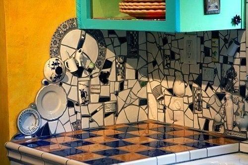 Мозаика из битой плитки