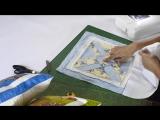 Aula em video de almofada em patchwork As flexas. Quilted patchwork pillow. Make a quilted pillow
