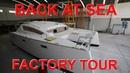 Back at Sea and Island Spirit Catamaran Factory Tour - Sailing Doodles Episode 50