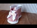 Плетение из газет БАШМАК ботинок мастер класс