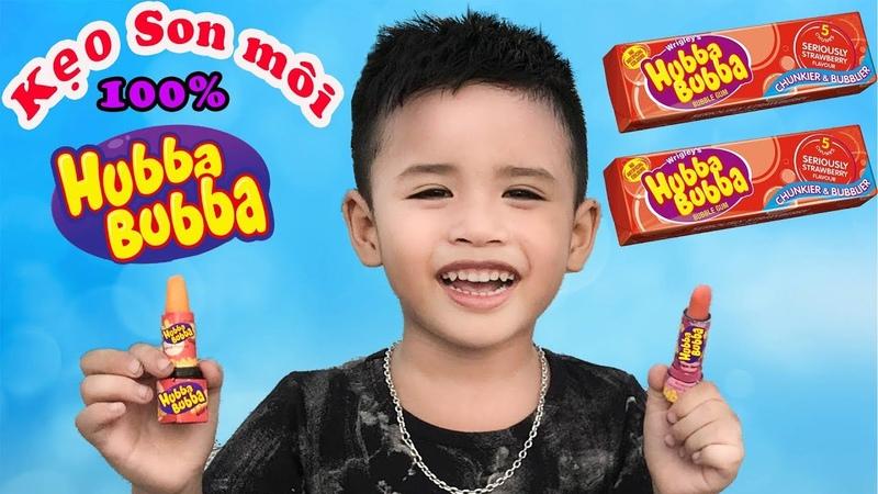 Kẹo Son Môi Hubba Bubba Và Kẹo Mút Hubba Bubba 100 ♥ Min Min TV ♥