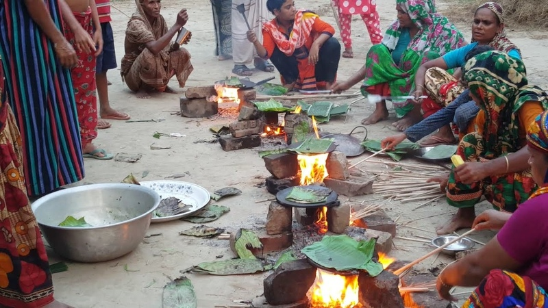 Banana Cake Making | Ripe Banana Cake Prepared By Village Women Serve To Child