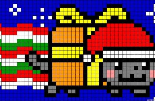 Новогодние пиксель-арты