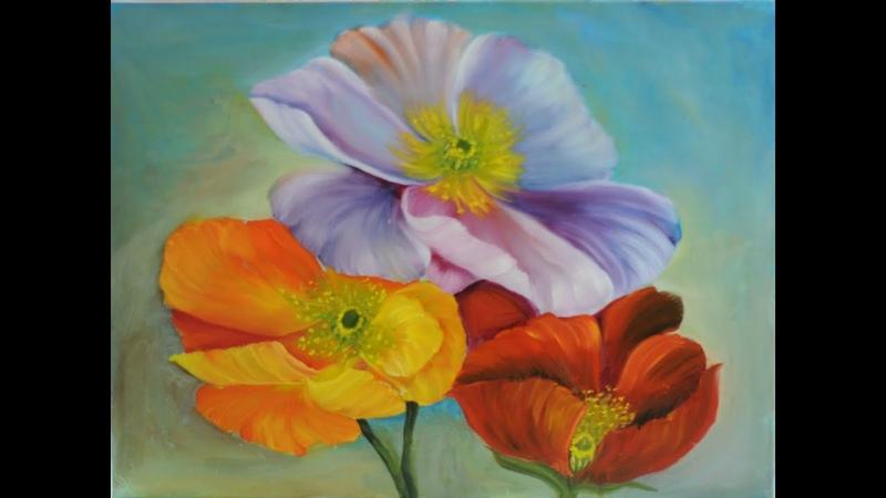 Silvia Mongelos - Pinceladas - Pintar Flores