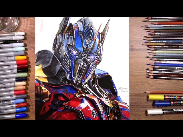 Transformers: Optimus Prime - speed drawing | drawholic