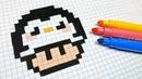 Handmade Pixel Art - How To Draw a Penguin Mushroom pixelart