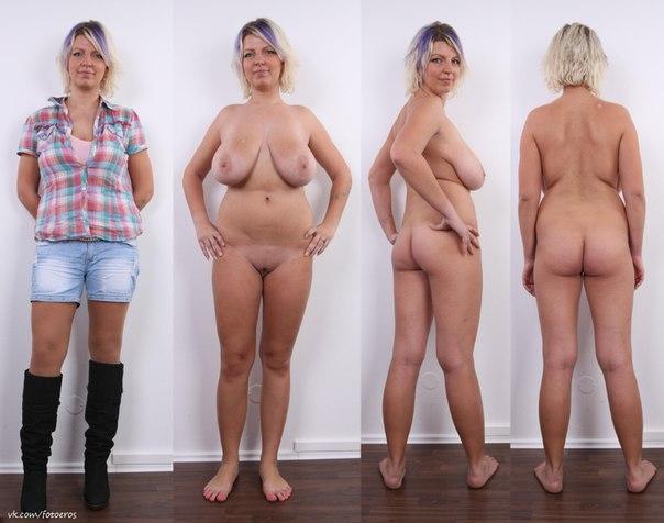 Голые женщины одеваются