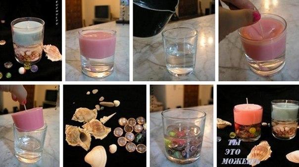 Как сделать свечку своими руками в стакане 66