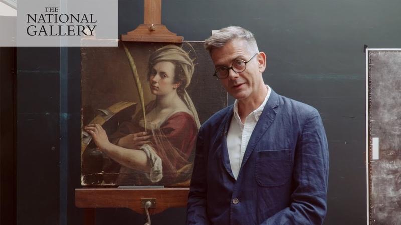 Starting the restoration of Artemisia Gentileschi's 'Self Portrait' | National Gallery