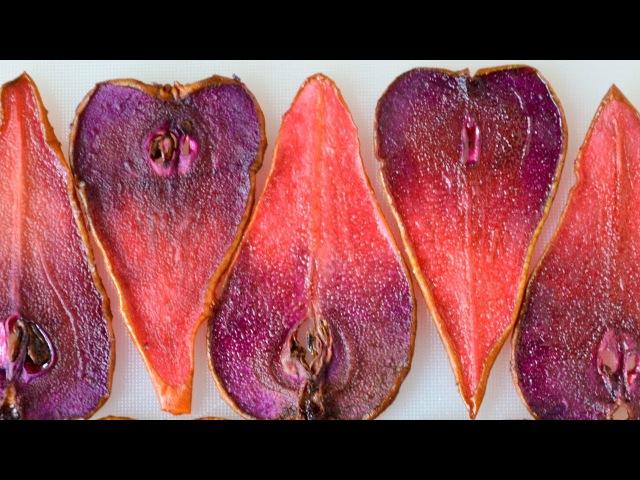 Сушеные груши для украшения тортов ☆ Чипсы из груш ☆ Dried pears for decoration