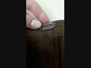 Заколки клипсы для накладных волос