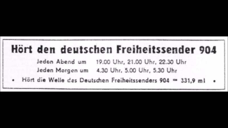 Deutscher Freiheitssender 904 - DFS 904 - (DDR) - Sendung
