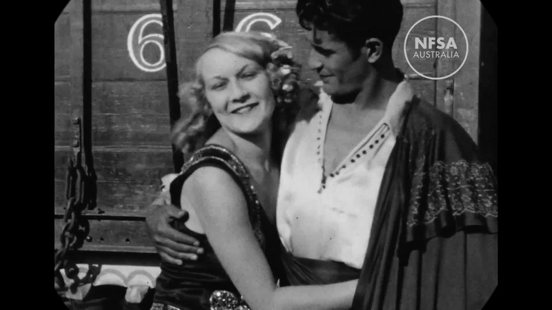 1928 - Backstage With Travelling Circus, Texas (speed corrected w/ music)