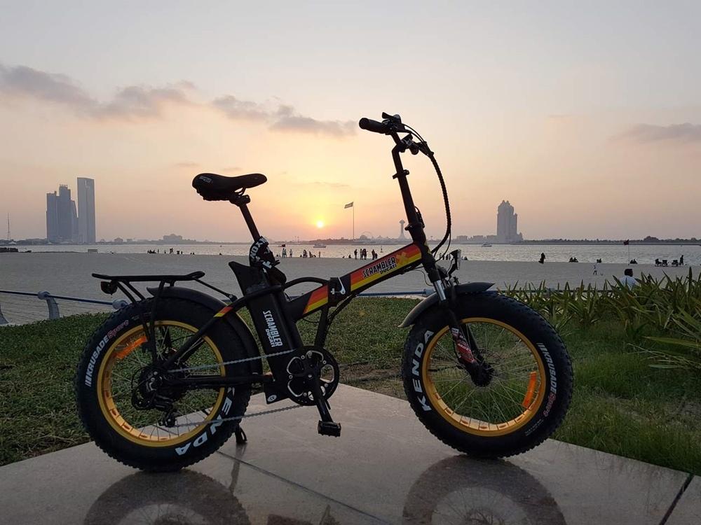 Электрический фэтбайк в стиле Scrambler Ducati