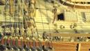 H.M.S. endeavour 1768 WOODEN SCALE MODEL
