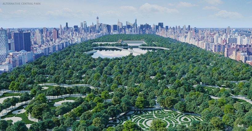 Проект центрального парка в Нью-Йорке (не принятая концепция)