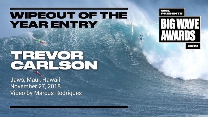 Trevor Carlson at Jaws - 2019 Wipeout of the Year Entry - WSL Big Wave Award