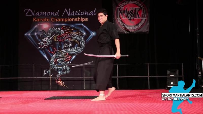 XMA Katana Jacob Pinto Mens Weapons 2015 Diamond Nationals Finals