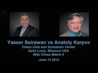 Yasser Seirawan vs Anatoly Karpov Chess Blitz Match 4