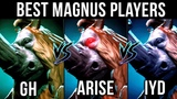 Ar1sE- vs gh vs inYourdreaM - Who is your favourite Magnus Player Dota 2 EPIC Gameplay