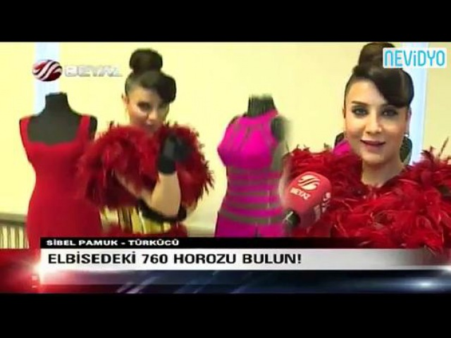 Sibel Pamuk'un elbisesi için 760 horoz kesildi - Dailymotion video