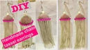 DIY tassel Earrings Handmade Chain Tassel Earrings How to Make Tassels Earrings At Home