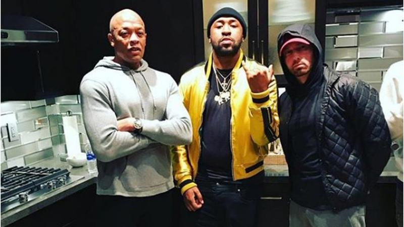 Eminem, Dr. Dre Mike WiLL-It работают в студии над совместным проектом (22.01.2018)