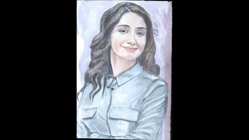 Drawing actress gökçe akyildiz..رسم التركية gökçe akyildiz..Türk çizimi gökçe akyildiz..