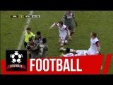 Ударный бельгийский футбол. Получил по ногам, отправил в нокаут и удалился (