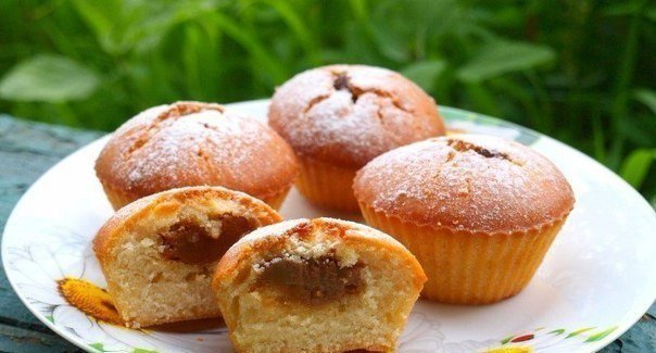Кексы с начинкой внутри рецепт с фото