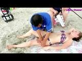 Beautiful Woman Chinese Massage On The Beach