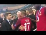 Sir Alex Ferguson waiting for Cristiano Ronaldo and Nani after the Euro 2016 final