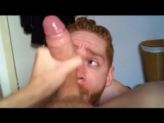 Hot muscle ginger suck fuck and cum