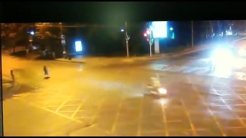 Авария с мотоциклом в Краснодаре 27.08.18