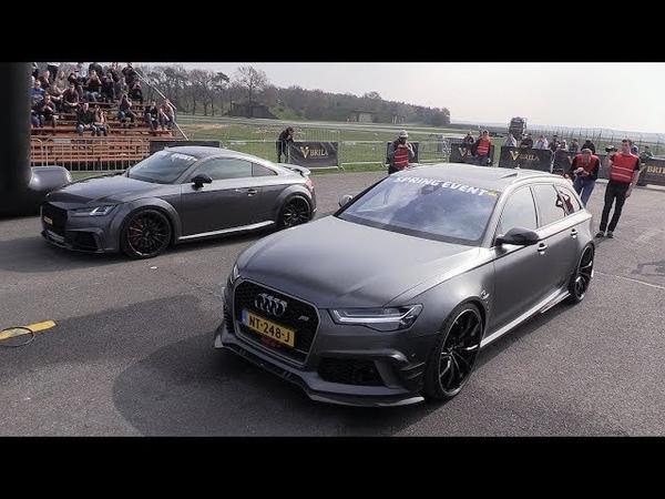 500HP Decatted AUDI TT-RS 8S vs Audi RS6 Avant ABT