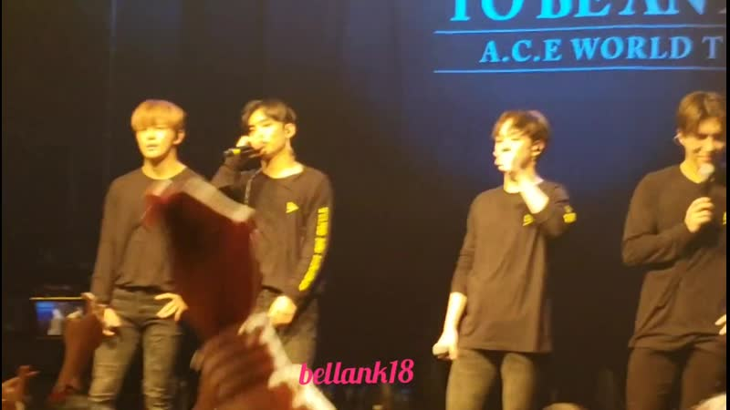 FANCAM | 09.12.18 | A.C.E - 5tar Take Me Higher (Encore) @ Fan-con 'To Be An ACE' in NY