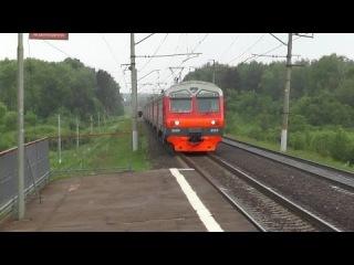 Электропоезд ЭД4М-0003 платформа Пионерская