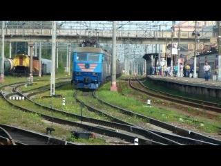 Электровоз ЧС6-010 с поездом №091 (Мурманск → Москва)