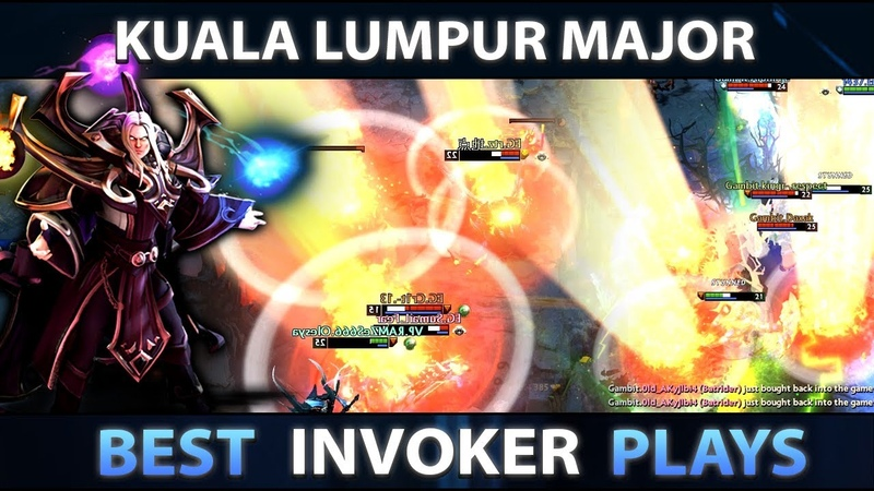 KUALA LUMPUR MAJOR DOTA 2 BEST INVOKER MOMENTS