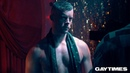 Russell Tovey serves serious looks behind the scenes at his Gay Times cover shoot