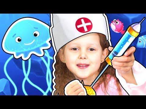ЛЕЧИМ Подводных Обитателей Летсплей Ocean Doctor LetsPlay Игры для детей