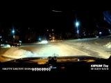 Газель, вероломно на красный - Снежинск 5 декабря 2014