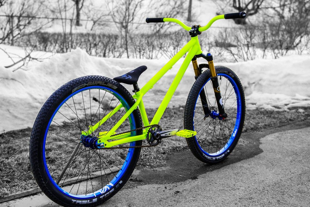 ты bikes rims blue